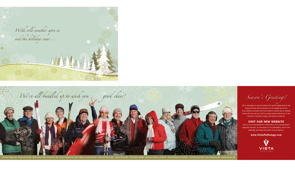 2009 Vista Pathology Holiday Card